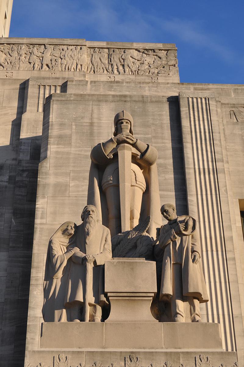 """""""patriots"""" By Lorado Taft, Louisiana State Capitol, Courtesy Lou"""