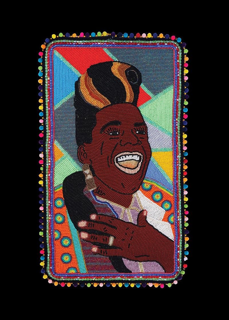 Big Freedia, Bead Portrait By Demond Melancon